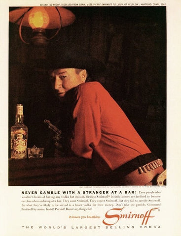 "1962 Smirnoff Vodka Ad ""George Gobel""-Original-Stills Of Time"
