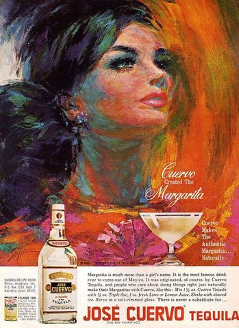 "1967 Jose Cuvero Tequila Ad 'Margarita Girl""-Original-Stills Of Time"