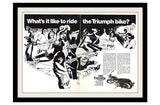 "1968 Triumph Motorcycle Ad ""Psychedelic""-Original-Stills Of Time"