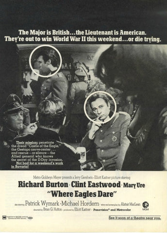 "1969 Where Eagles Dare WWII Movie Ad ""Clint Eastwood""-Original-Stills Of Time"