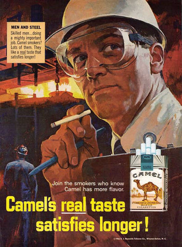 "1966 Camel Cigarettes Ad ""Steel Worker""-Original-Stills Of Time"