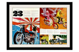 "1968 HONDA Motorcycle Ad ""23""-Original-Stills Of Time"