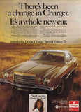 1975 Dodge Charger Car Ad-Original-Stills Of Time