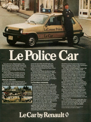 "1978 Le Car Ad ""Washington Police""-Original-Stills Of Time"