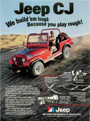 "1979 Jeep Renegade CJ Ad ""Play Rough""-Original-Stills Of Time"