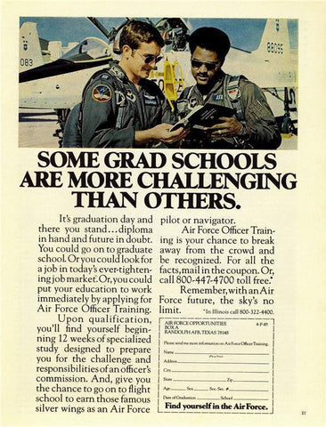 "1973 Air Force US Military Recruitment Ad ""Pilots""-Original-Stills Of Time"