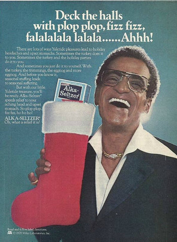 "1979 Alka Seltzer Ad ""Sammy Davis Jr: Stocking""-Original-Stills Of Time"