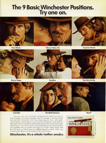 "1974 Winchester Cigar Ad ""Body Language""-Original-Stills Of Time"