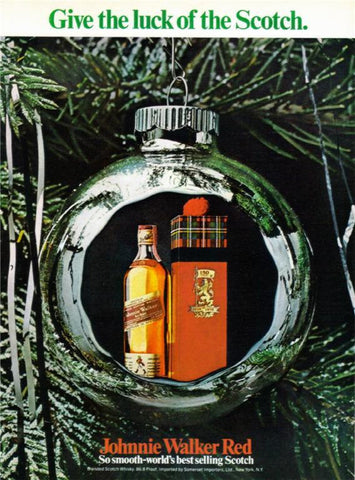 "1969 Johnnie Walker Red Scotch Ad ""Gift of Luck""-Original-Stills Of Time"