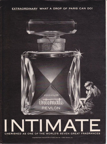 "1962 Revlon Intimate Perfume Ad ""World's Great Fragrance""-Original-Stills Of Time"