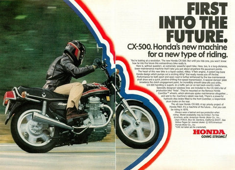 "1978 HONDA CX 500 Motorcycle Ad ""Future""-Original-Stills Of Time"