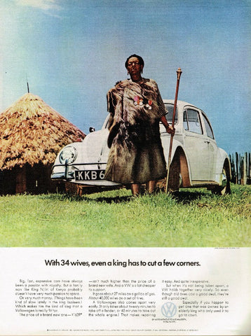 "1966 Volkswagen Bettle Ad ""34 Wives""-Original-Stills Of Time"