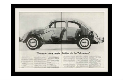 "1960 Volkswagen Beetle Ad ""Looking""-Original-Stills Of Time"
