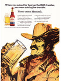 "1970 HAMM'S Beer Ad ""Cowboy Froniter""-Original-Stills Of Time"