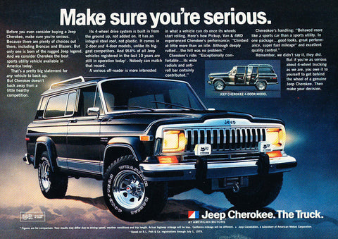 "1981 Jeep Cherokee Ad ""Serious""-Original-Stills Of Time"