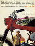 "1965 Honda Sport Motorcycle Ad ""Fresh View""-Original-Stills Of Time"