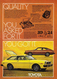 1976 Toyota Corolla Car Ad-Original-Stills Of Time