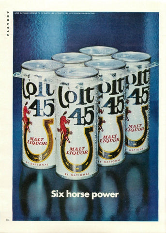 "1971 COLT 45 Can Beer Ad ""Six Horse Power""-Original-Stills Of Time"