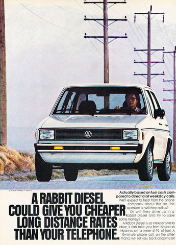 "1979 VW Rabbit Car Ad ""Cheaper""-Original-Stills Of Time"