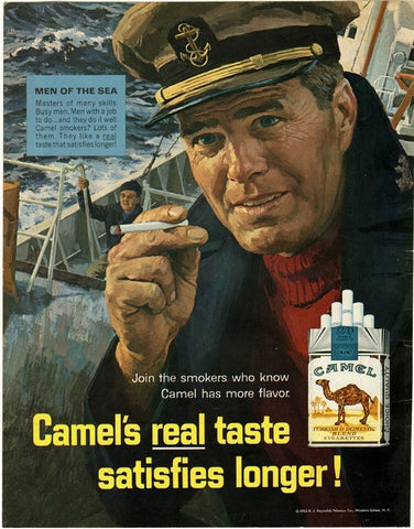 "1965 Camel Cigarettes Ad ""Sea Captain""-Original-Stills Of Time"