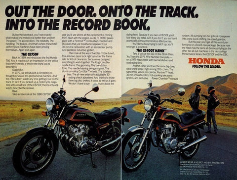 vintage honda motorcycle ads. 1980 honda superbike u0026 hawk motorcycle adoriginalstills of time vintage honda ads