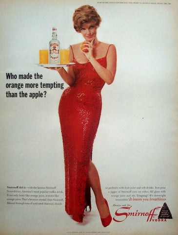 "1964 Smirnoff Vodka Ad ""Julie London""-Original-Stills Of Time"