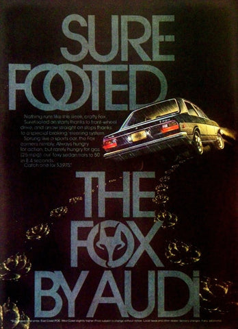"1974 Audi Fox Car Ad ""Footed""-Original-Stills Of Time"