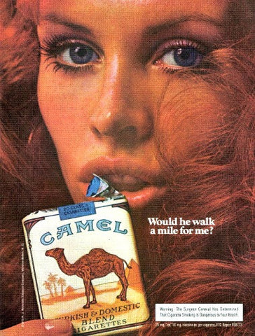 "1973 Camel Cigarette Ad ""Redhead Woman""-Original-Stills Of Time"