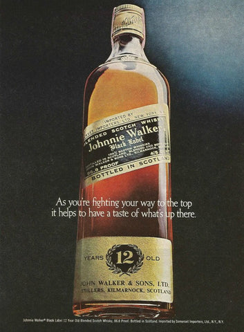 "1980 Johnnie Walker Black Scotch Ad ""Taste""-Original-Stills Of Time"