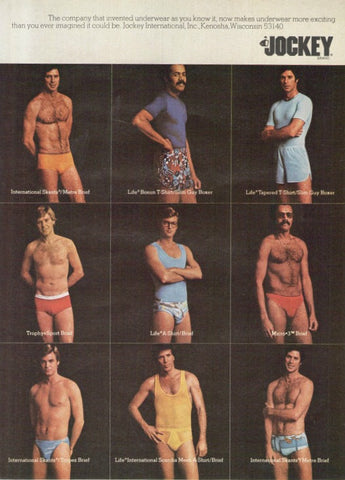 "1976 Jocley Men Briefs & Underwear Ad ""Exciting""-Original-Stills Of Time"