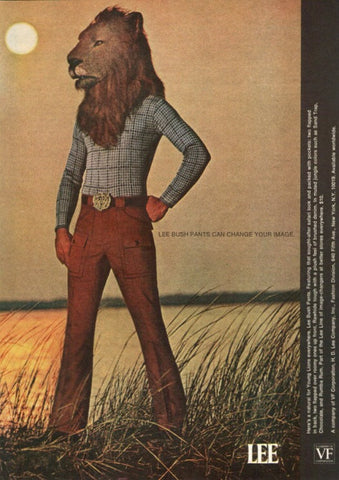 "1971 Lee Bush Pants Fashion Ad ""Lion: Sun""-Original-Stills Of Time"