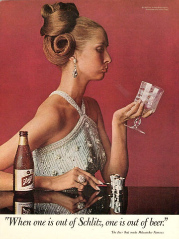 "1967 Schlitz Beer Ad ""Sad Lady""-Original-Stills Of Time"