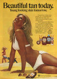 "1972 Coppertone Girl Sunscreen Ad ""Sun Tanning""-Original-Stills Of Time"