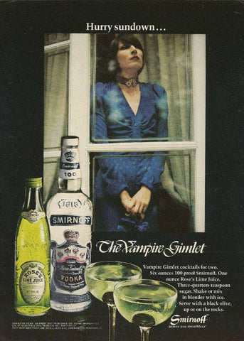 "1972 Smirnoff Vodka Ad ""Vampire Gimlet""-Original-Stills Of Time"