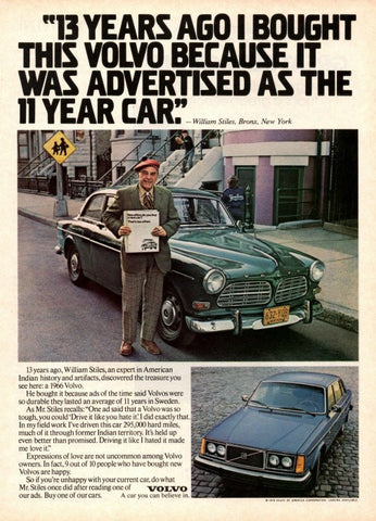 "1979 Volvo Car Ad ""13 Years""-Original-Stills Of Time"