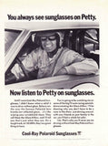 "1972 Cool Rays Sunglasses Ad ""Race: Richard Petty""-Original-Stills Of Time"