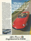 "1983 Alfa Romeo Spider Veloce Car Ad ""Headroom""-Original-Stills Of Time"