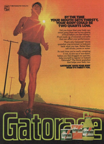 "1980 Gatorade Sports Drink Ad ""Thirsty Runner""-Original-Stills Of Time"