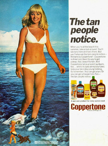 "1974 Coppertone Girl Sunscreen Ad ""Beach Babe""-Original-Stills Of Time"