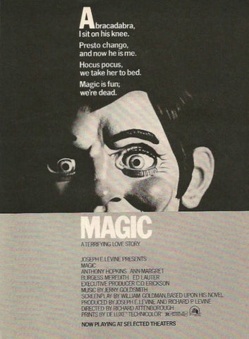 "1979 Magic Ventriloquist Movie Ad ""Anthony Hopkins""-Original-Stills Of Time"
