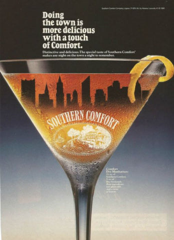 "1990 Southern Comfort Liqueur Ad ""Manhattan Skyline""-Original-Stills Of Time"