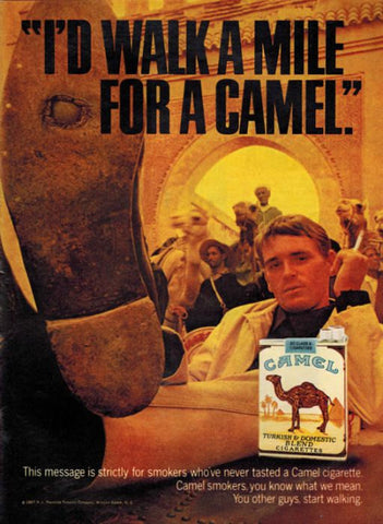 "1967 Camel Cigarettes Ad ""Walk A Mile""-Original-Stills Of Time"