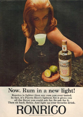 "1965 Ronrico Rum Ad ""Ginger Woman""-Original-Stills Of Time"