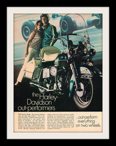 1969 Harley Davidson Electra Glide Motorcycle Ad-Original-Stills Of Time