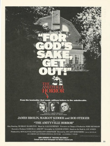 "1979 Amityville Horror Movie Ad ""Get Out""-Original-Stills Of Time"