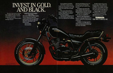 "1981 Yamaha 650 Motorcycle Ad ""Invest""-Original-Stills Of Time"