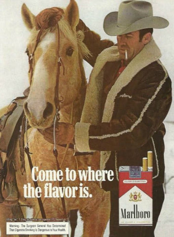 "1973 Marlboro Cigarette Ad ""Bridle Horse""-Original-Stills Of Time"