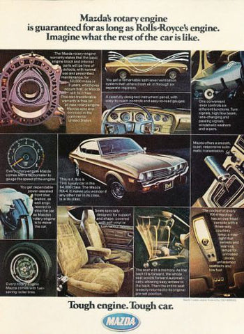 "1975 Mazda RX-4 Brown Car Ad ""Rolls Royce""-Original-Stills Of Time"