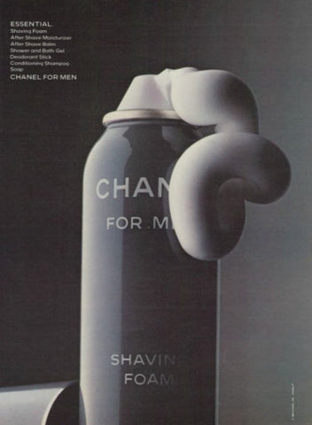 "1983 Chanel For Men Cologne Ad ""Shaving Foam""-Original-Stills Of Time"