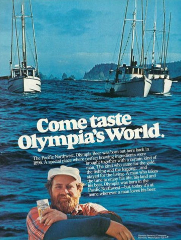 "1977 Olympia Beer Ad ""Fishng Boats""-Original-Stills Of Time"
